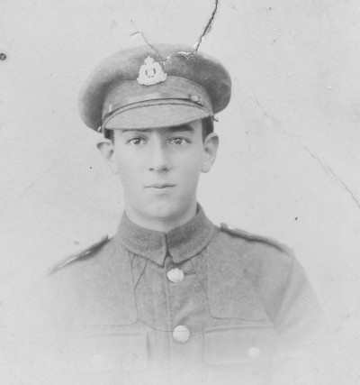 Cecil aged 16, in 'Grundisburgh Volunteers' according to Hilda on reverse of photo