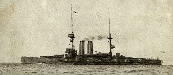 HMS Commonwealth in about 1908.  Source: www.naval-history.net (CyberHeritage/Trevor Phillips)""