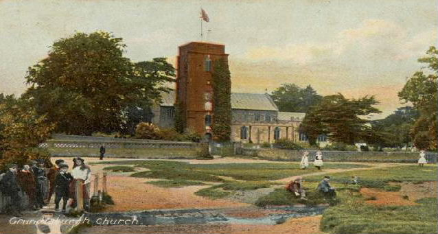 I was pleased with that pretty postcard of the old school and green, it looked so familiar to me